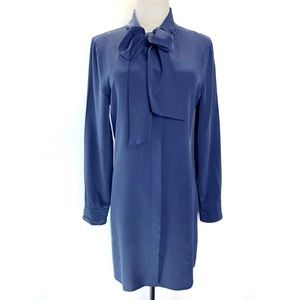 Equipment Leema Tie Neck silk shirt dress